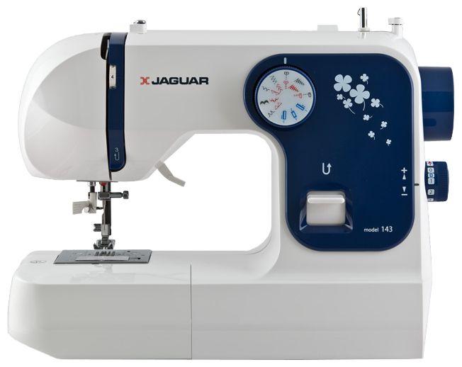 Швейная машина Jaguar 143Швейные машины<br><br><br>Тип: электромеханическая<br>Вышивальный блок: нет<br>Количество швейных операций: 18<br>Выполнение петли: полуавтомат<br>Потайная строчка : есть<br>Эластичная потайная строчка: есть<br>Кнопка реверса: есть<br>Отключение механизма подачи ткани : есть<br>Рукавная платформа: есть<br>Нитевдеватель: есть