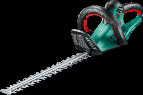Кусторез Bosch AHS 45-26 [0600847E00]Кусторезы<br>Еще большая производительность наряду со сниженным весом — оптимальный выбор для ухода за живыми изгородями среднего размера.<br><br>Потребительские преимущества<br>- Еще практичнее: инновационная легкая конструкция делает работу менее напряженной и утомительной.<br>- Простота использования: эргономичные рукоятки с мягкой накладкой и прозрачной защитой рук обеспечивают безопасное и комфортное рабочее положение.<br>- Высокая производительность: двигатель мощностью 550 Вт и инновационный нож с функцией пиления и расстоянием между ножами 26 мм.<br><br>Основные...<br><br>Тип: кусторез<br>Тип двигателя: Электрический<br>Источник питания: сеть<br>Мощность двигателя, Вт: 550<br>Длина шины дюйм/см: 45<br>Расстояние между ножами: 26 мм<br>Описание: частота хода: 3400 об/мин.