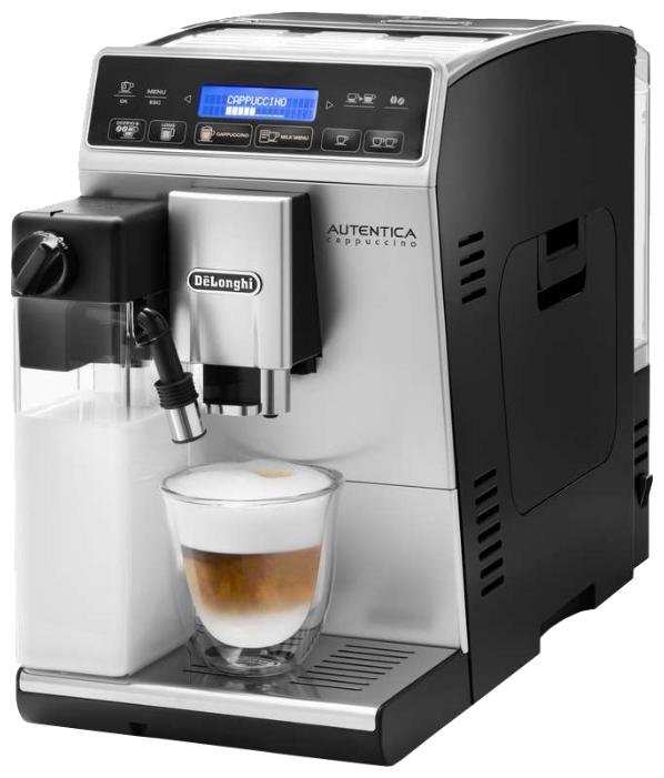 Кофемашина Delonghi ETAM 29.660 SBКофеварки и кофемашины<br><br><br>Тип используемого кофе: Зерновой\Молотый<br>Мощность, Вт: 1450 Вт<br>Объем, л: 1.4 л<br>Давление помпы, бар  : 15<br>Встроенная кофемолка: Есть<br>Емкость контейнера для зерен, г  : 150<br>Одновременное приготовление двух чашек  : Есть<br>Подогрев чашек  : Есть<br>Контейнер для отходов  : Есть<br>Съемный лоток для сбора капель  : Есть