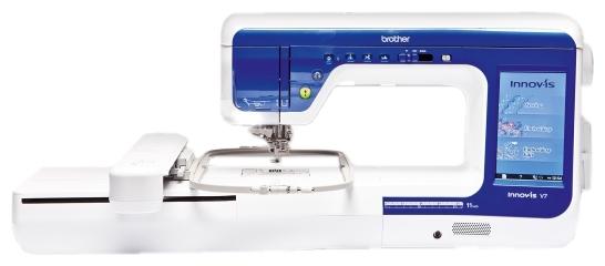 Вышивальная машина Brother Innov-is V7Швейные машины<br><br><br>Тип: швейно-вышивальная машина<br>Вышивальный блок: есть<br>Подключение к компьютеру: есть<br>Количество швейных операций: 531<br>Выполнение петли: автомат<br>Число петель: 14<br>Потайная строчка : есть<br>Эластичная строчка : есть<br>Эластичная потайная строчка: есть<br>Отключение механизма подачи ткани : есть