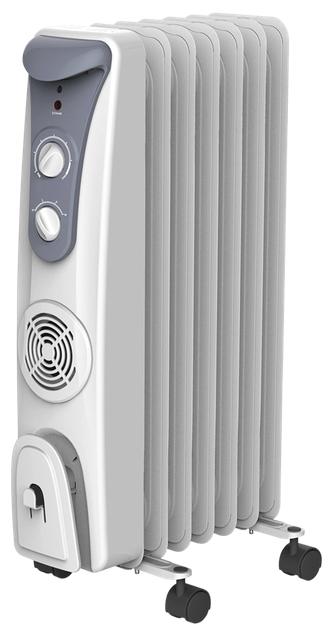 Масляный радиатор Timberk TOR 31.1907 QBОбогреватели<br>Масляный обогреватель Timberk TOR 31.1907 QB можно использовать в квартирах, домах и офисах для дополнительного обогрева. Встроенный тепловентилятор обеспечивает быстрый обогрев помещения. Колесики упрощают перемещение обогревателя по комнате. Предусмотрен встроенный регулируемый термостат и три режима мощности.<br><br>- Современный тип секций и стильный дизайн в пастельных тонах;<br>- Встроенный тепловентилятор с возможностью отключения;<br>- Колесики для перемещения;<br>- Устройство для намотки сетевого шнура;<br>- Три ступени мощности нагрева;<br>- Встроенный регулируемый...<br><br>Тип: масляный радиатор<br>Максимальная мощность обогрева: 1900 Вт<br>Площадь обогрева, кв.м: 24<br>Количество секций: 7<br>Отключение при перегреве: есть<br>Управление: механическое<br>Регулировка температуры: есть<br>Термостат: есть<br>Защита от мороза : есть<br>Выключатель со световым индикатором: есть