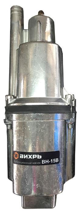 Насос Вихрь ВН-15ВНасосы<br><br><br>Максимальный напор: 72 м<br>Пропускная способность: 1.08 куб. м/час<br>Напряжение сети: 220/230 В<br>Потребляемая мощность: 280 Вт<br>Установка насоса: вертикальная