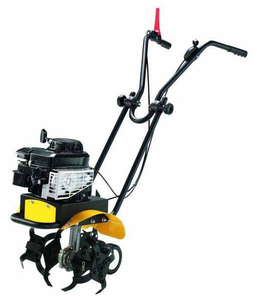 Культиватор Champion BC4401Мотоблоки и культиваторы<br><br><br>Тип: культиватор<br>Ширина обработки почвы: 38 см<br>Глубина вспахивания: 20 см<br>Тип двигателя: бензиновый, четырехтактный, цилиндров: 1<br>Объем двигателя: 140 куб. см<br>Мощность двигателя: 3 кВт / 4.08 л.с. при 3600 об/мин<br>Тип коробки передач: одноступенчатая<br>Описание: скорость вращения фрез 120 об/мин. Тяговое усилие 7 кН. Расход топлива 395 л/ч