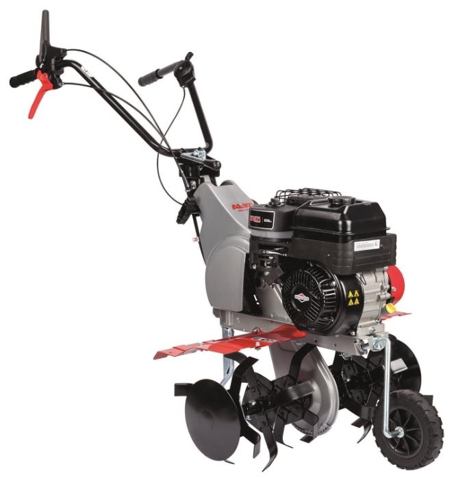 Культиватор AL-KO MH 5065 RМотоблоки и культиваторы<br>Мотокультиватор с новым, особенно мощным двигателем Мотокультиватор для рыхления и подготовки почвы к посеву<br><br>- Для заделывания в почву измельченного материала, гумуса или торфа.<br>- Активно работающие культиваторные ножи &amp;#40;4 штуки&amp;#41;<br>- Мощная тяга и на твердых или тяжелых глинистых почвах<br>- Несложное маневрирование благодаря заднему ходу.<br>- Регулируемая ручка обеспечивает эргономику в работе.<br>- Особенно большая ширина захвата<br><br>Тип: культиватор<br>Ширина обработки почвы: 55-75 см<br>Тип двигателя: бензиновый, четырехтактный, цилиндров: 1<br>Производитель и модель двигателя: Briggs and Stratton Series 950 E<br>Объем двигателя: 208 куб. см<br>Мощность двигателя: 4.15 кВт / 5.64 л.с.<br>Тип коробки передач: одноступенчатая<br>Количество передач: 1 вперед, 1 назад<br>Реверс: есть
