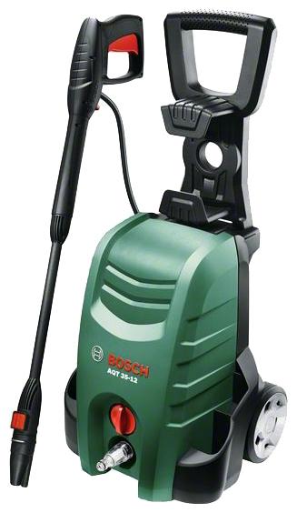Мойка высокого давления Bosch AQT 35-12 [06008A7100]Мойки высокого давления<br>Bosch AQT 35-12 — простое и удобное управление для выполнения множества задач по очистке<br><br>Потребительские преимущества<br>- Увеличение эффективности очистки благодаря инновационной насадке 3-в-1<br>- Надежные колеса и рукоятка Easy-Fold для легкого передвижения и экономии места при хранении<br>- Энергоэффективность благодаря функции автоматического отключения<br><br>Основные преимущества<br>- Простота использования благодаря быстродействующим муфтам и встроенному держателю принадлежностей<br><br>Давление, Бар: 120<br>Производительность, л/час: 350<br>Насадки: стандартная<br>Шланг ВД: длина 5 м