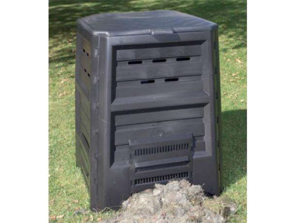 Компостер KHW 64029Садовые компостеры<br>Садовый компостер KHW 64029 прочный, стабильной формы, устойчивый к атмосферному воздействию легкая сборка без дополнительного инструмента легкое удаление готового компоста<br><br>Тип: компостер<br>Объем, л: 640 л