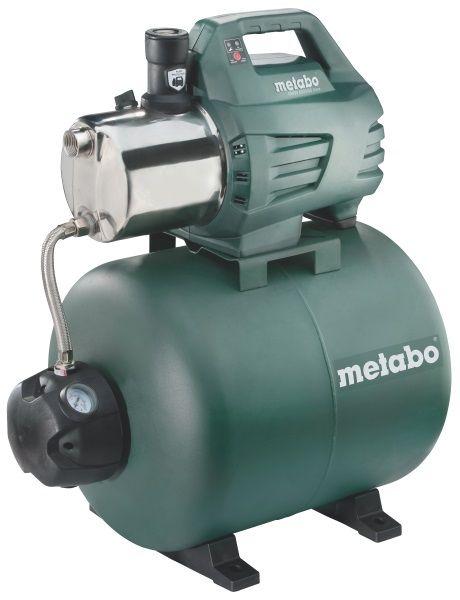 Насос Metabo HWW 6000/50 Inox [600976000]Насосы<br>- Насос производительностью в 6 кубических метров воды в час. Такой объем воды достаточен для одновременной работы до 4-х точек водозабора.<br>- Автоматика включения/выключения с большим манометром и возможностью регулировки.<br>- Metabo Pump Protection - система защиты от сухого хода с LED индикатором позволяет избежать поломки насоса в случае, если подача воды резко пропадет. Высокая производительность станции Metabo HWW 6000/50 Inox может быть причиной того, что вода в скважине либо другом источнике будет выкачиваться быстрее, чем пополняться.<br>- Насос оборудован дополинтельной...<br>
