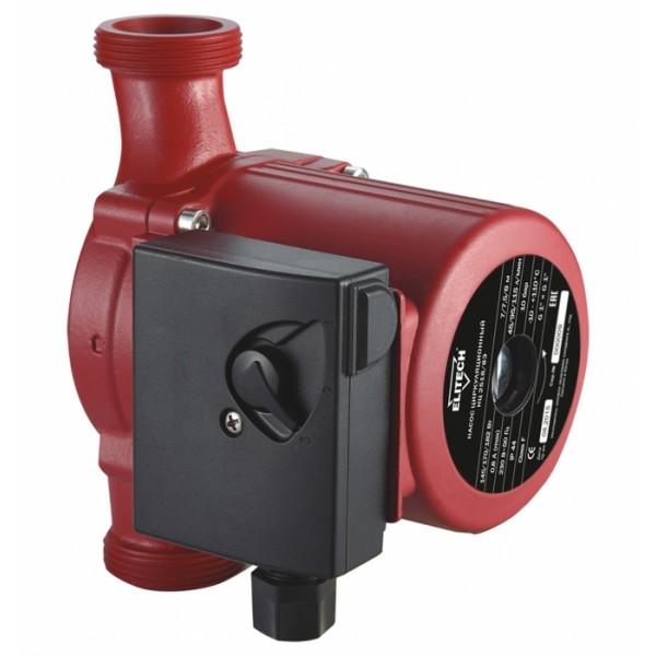 Насос Elitech НЦ 2518/8ЭНасосы<br>Насос циркуляционный ELITECH НЦ 2518/8Э предназначен для циркуляции горячей и холодной воды в системах отопления, горячего водоснабжения, охлаждения и кондиционирования.<br><br>Глубина погружения: 8 м<br>Пропускная способность: 6.9 куб. м/час<br>Напряжение сети: 220/230 В<br>Потребляемая мощность: 182 Вт<br>Качество воды: чистая<br>Установка насоса: горизонтальная/вертикальная