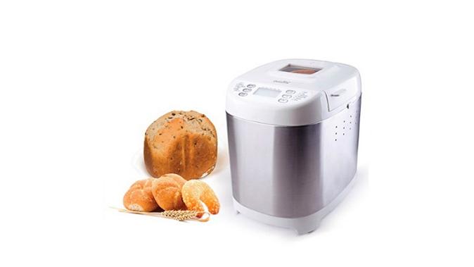 Хлебопечка Smile BM 1193Хлебопечки<br><br><br>Тип: Хлебопечь<br>Максимальный вес выпечки, г: 700<br>Мощность, Вт: 500<br>Регулировка веса выпечки: Есть<br>Таймер: Есть<br>Установка таймера: до 13 ч<br>Поддержание температуры: Есть<br>Время поддержание температуры: до 1 ч<br>Диспенсер: Нет<br>Запас памяти при сбое электропитания, мин: 10