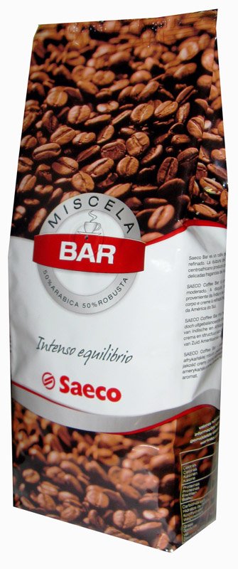 Кофе в зернах Saeco Bar 0,5 кг.