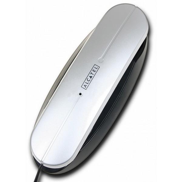 Проводной телефон Alcatel Temporis Mini-RU SilverПроводные телефоны<br>Alcatel temporis mini ru: функциональный минимализм.<br>Минимализм сегодня в моде, это веяние находит отражение абсолютно везде, особенно в современной технике. Проводной телефон Alcatel temporis mini ru — яркий образец минималистичного стиля, который просто идеально походит к любому интерьеру.<br>Установите такой телефон в вашей квартире или в рабочем офисе — он везде будет одинаково полезен, и везде будет одинаково стильно смотреться.<br>Этот компактный аппарат объединил под одним корпусом все самые нужные функции: повторный набор номера, автодозвон, удержание линии,...<br><br>Тип: проводной телефон<br>Повторный набор номера: есть<br>Автодозвон: есть<br>Тональный набор: есть<br>Возможность настенной установки: есть<br>Удержание линии: есть