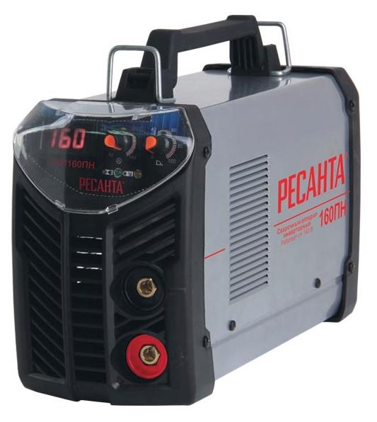 Сварочный аппарат Ресанта САИ-160ПНСварочные аппараты<br><br><br>Тип: сварочный инвертор<br>Сварочный ток (MMA): 10-160 А<br>Напряжение на входе: 140-260 В<br>Количество фаз питания: 1<br>Напряжение холостого хода: 80 В<br>Тип выходного тока: постоянный<br>Мощность, кВт: 4.8<br>Продолжительность включения при максимальном токе: 70 %<br>Диаметр электрода: 4 мм<br>Антиприлипание: есть