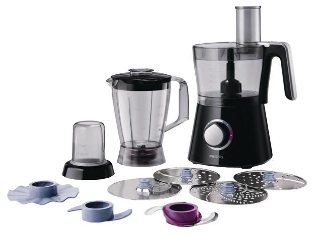 Кухонный комбайн Philips HR7762Кухонные комбайны<br><br><br>Тип: Кухонный комбайн<br>Мощность, Вт: 750<br>Емкость чаши, л: 2<br>Блендер, л: 1<br>Место для хранения насадок: Есть