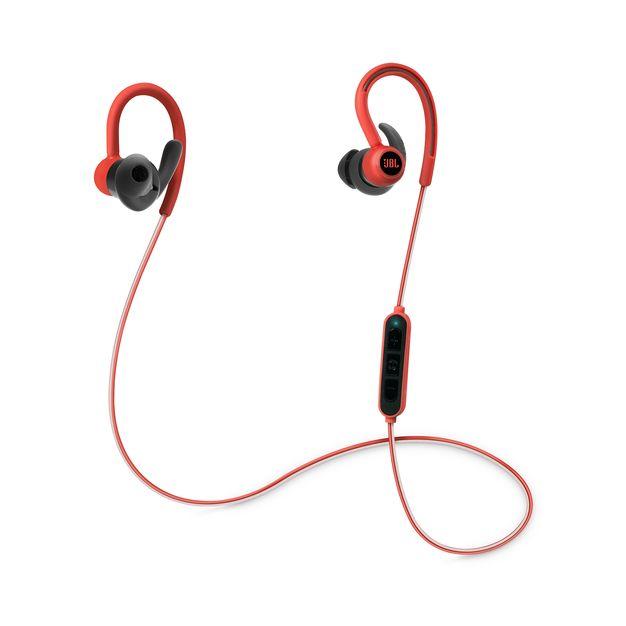 Наушники JBL Reflect Contour RedНаушники и гарнитуры<br>В наушниках используется технология Dual Lock с заушным креплением и надежной посадкой в ухе для непрерывного прослушивания. Фанаты спорта могут сохранять энергичность и сосредоточенность на тренировке благодаря воспроизведению в течение 8 часов и мощному фирменному звуку JBL. Благодаря превосходным материалам высшего качества, защите от влаги и простоте использования, а также встроенному пульту ДУ с тремя кнопками ваши тренировки мгновенно взлетят на новый уровень.<br><br>Тип: гарнитура<br>Вид наушников: Вставные<br>Тип подключения: Беспроводные<br>Диапазон воспроизводимых частот, Гц: 10 - 22000