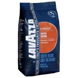 Кофе в зернах Lavazza Super Crema зерно 1000грКофе, какао<br>Lavazza Super Crema: праздник вкуса каждый день!<br>Любители всего нежного, сладкого и воздушного придут в настоящий восторг от зернового кофе Lavazza Super Crema. Он идеален для приготовления вкусного капучино и латте, а также для любого другого кофе или кофейного коктейля с добавлением молока или сливок.<br>Мягкий, но при этом насыщенный, вкус с оттенком шоколада, густая пенка и чарующий аромат: устоять перед таким кофе трудно. Да и зачем, если купить кофе в зернах Lavazza Super Crema можно уже сейчас на technomart.ru в режиме «онлайн»!<br>Классическая средняя обжарка, вкус с едва уловимой...<br><br>Тип: кофе в зернах<br>Обжарка кофе: средняя<br>Кофеин: С кофеином<br>Состав: 80% Арабика/ 20% Робуста<br>Дополнительно: Арабика+Робуста
