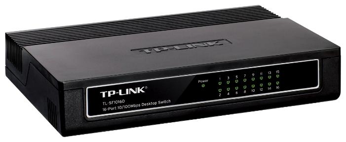 Коммутатор TP-Link TL-SF1016DМаршрутизаторы и роутеры<br><br><br>Тип: Коммутатор (switch)<br>Количество портов коммутатора: 16 x Ethernet 10/100 Мбит/сек<br>Поддержка стандартов: Auto MDI/MDIX