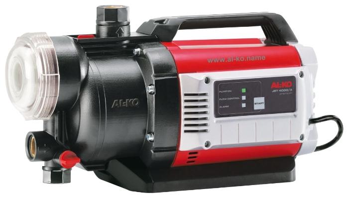 Насос AL-KO Jet 4000/3 PremiumНасосы<br>Большой напор и высокая производительность. Легко очищаемый предварительный XXL-фильтр. Встроенная защита от сухого хода. Надежный в работе, с низким уровнем шума. Низкий уровень потребления электроэнергии.<br><br>Глубина погружения: 8 м<br>Максимальный напор: 35 м<br>Пропускная способность: 5.5 куб. м/час<br>Напряжение сети: 220/230 В<br>Потребляемая мощность: 900 Вт<br>Качество воды: чистая<br>Установка насоса: горизонтальная