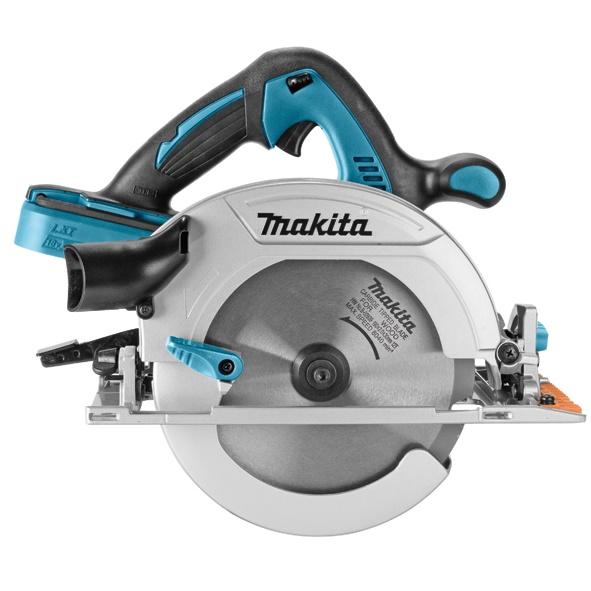 Дисковая пила Makita DHS710ZПилы<br>Аккумуляторная дисковая пила Makita DHS 710 Z:<br><br>- Система сдувания стружки обеспечивает хорошую видимость линии реза<br>- Устройство пылеудаления в задней части инструмента<br>- Компактная и легкая конструкция обеспечивает превосходное управление и маневренность инструмента<br>- Шестигранный ключ можно хранить в специальном отделении инструмента для удобства пользователя<br>- Большой и удобный рычаг для высокой эффективности работы<br>- Светодиодный индикатор перегрузки.<br>- Ограничитель 45°<br><br>Тип: дисковая<br>Конструкция: ручная<br>Функции и возможности: электронная защита двигателя, торможение двигателя