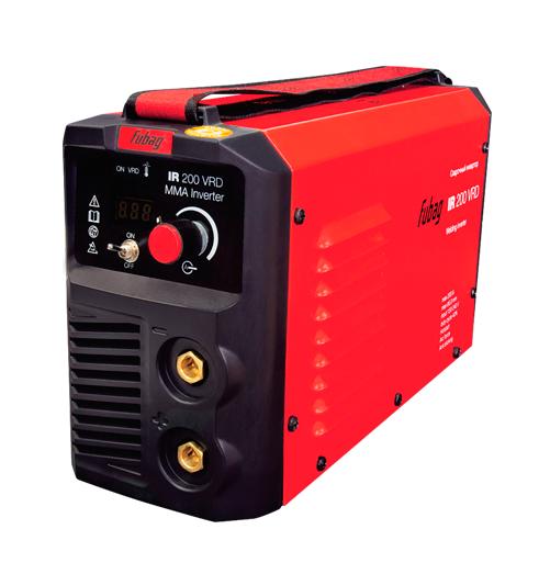 Сварочный аппарат FUBAG IR 200 VRDСварочные аппараты<br>Сварочный инвертор, оснащенный отключаемой функцией VRD, разработан специально для проведения сварочных работ в зонах с повышенной опасностью поражения электрическим током &amp;#40;в замкнутых и стесненных условиях, туннелях, колодцах, резервуарах&amp;#41;. <br><br>- Панель управления аппаратом <br>Цифровой дисплей отображает значение сварочного тока. Пользователь имеет возможность легкого контроля за параметром и точной настройки в зависимости от решаемых задач. <br><br>- Регулируемый ремень для переноски <br>Мягкий нейлоновый ремень с регулятором длины даёт возможность...<br><br>Тип: сварочный инвертор<br>Сварочный ток (MMA): 5-200 А<br>Напряжение на входе: 150-240 В<br>Количество фаз питания: 1<br>Напряжение холостого хода: 65 В<br>Тип выходного тока: постоянный<br>Мощность, кВт: 8.80<br>Продолжительность включения при максимальном токе: 40 %<br>Диаметр электрода: 1.60-5 мм<br>Класс изоляции: H