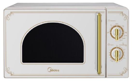 Микроволновая печь Midea MM820CJ7-W3Микроволновые печи<br><br><br>Объём, литров: 20<br>Тип: Микроволновая печь<br>Тип управления: Механическое<br>Переключатели: Поворотные