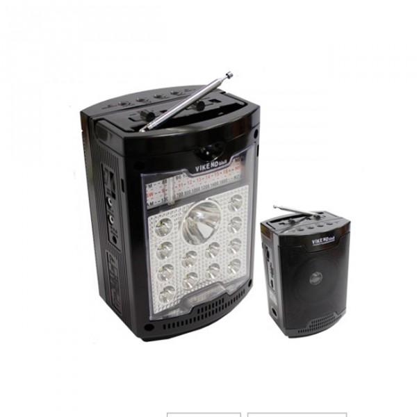 Радиоприемник Сигнал electronics VIKEND WALKРадиобудильники, приёмники и часы<br>Диапазон принимаемых частот: FM 88-108МГц, AM 530-1600КГц, SW 8-16МГЦ.<br>Мощность светодиодного фонаря: 0.6 Вт.<br>Разъемы: USB, SD.<br>Телескопическая антенна.<br>Удобная ручка.<br>Питание: сеть, аккумуляторная батарея, две батарейки типоразмера R20.<br>Напряжение питания: 4В/220В.<br>Емкость аккумуляторной батареи: 1300 мАч.<br><br>Тип: Радиоприемник<br>Тип тюнера: Цифровой<br>Часы: Нет<br>Встроенный будильник  : Нет