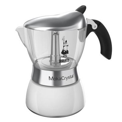 Кофеварка Bialetti Moka Crystal 4323Кофеварки и кофемашины<br><br><br>Тип : гейзерная кофеварка<br>Тип используемого кофе: Молотый<br>Объем, л: 0,180<br>Материал корпуса  : Металл