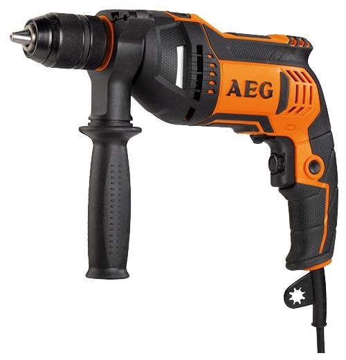 Дрель AEG 449160 BE 750 RДрели, шуруповерты, гайковерты<br>Дрель AEG BE 750 R 449160 фиксируется во включенном состоянии для удобной продолжительной работы - например, при установке на сверлильной стойке. Для подбора оптимальной скорости работы предусматривается простая регулировка частоты вращения оснастки. Инструмент позволяет сверлить отверстия диаметром до 30 мм и 13 мм в дереве и металле соответственно. Сумка способствует удобству хранения и транспортировки инструмента.<br><br>Тип: дрель<br>Тип патрона: быстрозажимной<br>Количество скоростей работы: 1