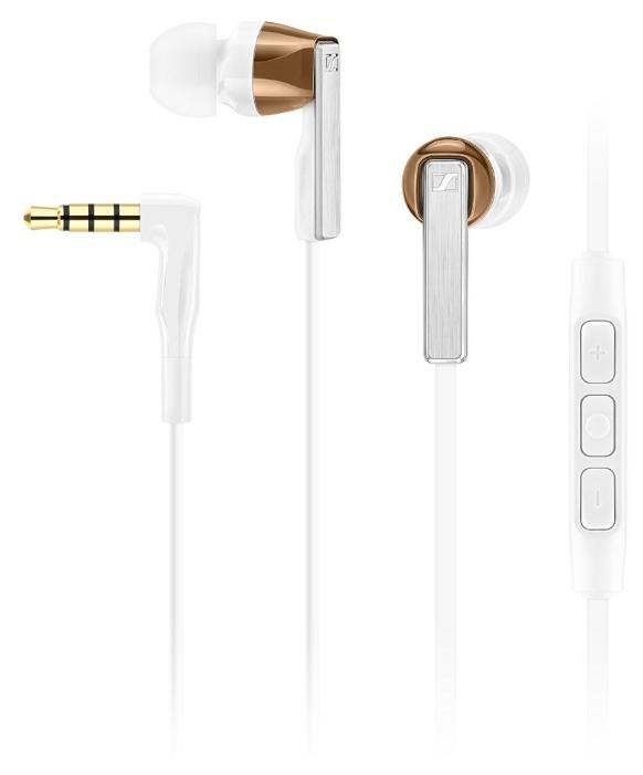 Наушники Sennheiser CX 5.00I WhiteНаушники и гарнитуры<br>Sennheiser CX 5.00I White для деловых и активных.<br>Наушники Sennheiser CX 5.00I White отлично подойдут, как спортсменам, так и деловым людям. Ведь музыку в отличном качестве любят слушать все, а эта модель может использоваться также и как гарнитура. Микрофон и регулятор громкости расположены прямо на проводе наушников, что очень удобно, ведь такую гарнитуру можно за секунду включить даже во время вечерней пробежки!<br>Поразительный для наушников-затычек диапазон частот — от 16 до 22000 Гц, превосходные басы, 4 пары сменных амбушюр в комплекте, эргономичный дизайн, весьма...<br><br>Тип: наушники<br>Вид наушников: Вставные<br>Тип подключения: Проводные<br>Диапазон воспроизводимых частот, Гц: 16 - 22 000<br>Сопротивление, Импеданс: 18 Ом<br>Чувствительность дБ: 118<br>Микрофон: есть