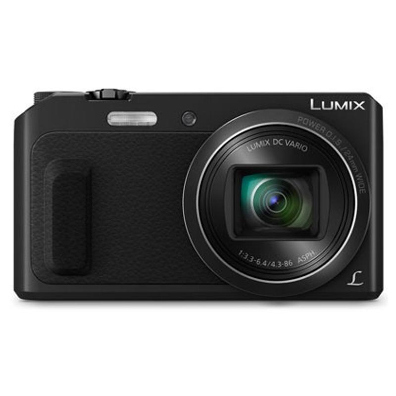 Цифровой фотоаппарат Panasonic Lumix DMC-TZ57 BlackЦифровые фотоаппараты<br><br><br>Тип: Цифровой Фотоаппарат<br>Стабилизатор изображения: Оптический<br>Видеорежим: Есть<br>Звук в видеоклипе: Есть<br>Вспышка: Есть<br>Цвет: Чёрный<br>Кроп фактор: 5.7<br>Тип матрицы: CMOS<br>Размер матрицы: 1/2.33<br>Чувствительность: 100 - 3200 ISO, Auto ISO