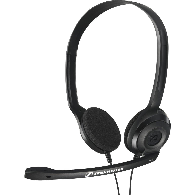 Наушники Sennheiser PC 3 CHATНаушники и гарнитуры<br>Универсальная элегантная стерео гарнитура PC 3 Chat — идеальное решение для интернет телефонии. Высококачественные наушники позволяют использовать её для прослушивания музыки и просмотра кинофильмов, а также для компьютерных игр. Регулируемое оголовье позволяет подобрать нужную длину для удобства ношения. Микрофон с элементом шумокомпенсации на регулируемом держателе гарантирует разборчивость речи.<br>Особенности<br>Высококачественные динамические наушники позволяют применять гарнитуру для прослушивания музыки и кинофильмов<br>Микрофон с элементом...<br><br>Тип: гарнитура<br>Вид наушников: Накладные<br>Тип подключения: Проводные<br>Диапазон воспроизводимых частот, Гц: 42 - 17000 Гц<br>Сопротивление, Импеданс: 32<br>Чувствительность дБ: 95<br>Микрофон: есть<br>Импеданс микрофона, Ом: 2000<br>Чувствительность микрофона, дБ: -40 дБ<br>Частотный диапазон микрофона, Гц: 90 - 15000 Гц
