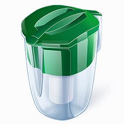 Кувшин Аквафор Кантри GreenФильтры и умягчители для воды<br>Этот фильтр кувшинного типа имеет большой объем воронки и кувшина. Это позволяет пользоваться им вдали от водопровода, например на даче. Материал корпуса: SAN-пластик. Материал корпуса сменного модуля: полипропилен.<br><br>Тип: фильтр-кувшин<br>Тип фильтра: кувшин<br>Подключение к водопроводу: нет<br>Ресурс стандартного фильтрующего модуля: 300 л<br>Помпа для повышения давления: нет<br>Максимальная производительность л/мин.: 0,6