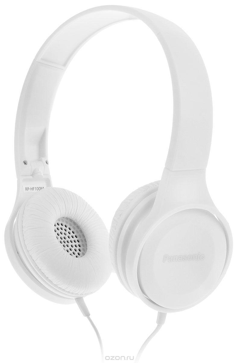 Наушники Panasonic RP-HF100MGCWНаушники и гарнитуры<br>Наушники с амбушюрами HF100 имеют компактную конструкцию и легко носятся. 30-миллиметровые динамики воспроизводят поистине мощный звук. Эти наушники имеют малый вес и крепкую конструкцию и помогут вам слушать музыку где угодно. Модель HF100 имеет складную конструкцию, благодаря которой их можно свободно переносить в компактном виде. Совместимы с устройствами iPhone, BlackBerry и Android. С помощью наушником можно слушать музыку со смартфона, а также можно активировать функцию звонком, чтобы использовать микрофон для телефонных разговоров.<br><br>Тип: гарнитура<br>Тип акустического оформления: Закрытые<br>Тип подключения: Проводные<br>Номинальная мощность мВт: 1000<br>Диапазон воспроизводимых частот, Гц: 10-23000<br>Сопротивление, Импеданс: 26 Ом<br>Чувствительность дБ: 103<br>Микрофон: есть<br>Крепление микрофона: на проводе