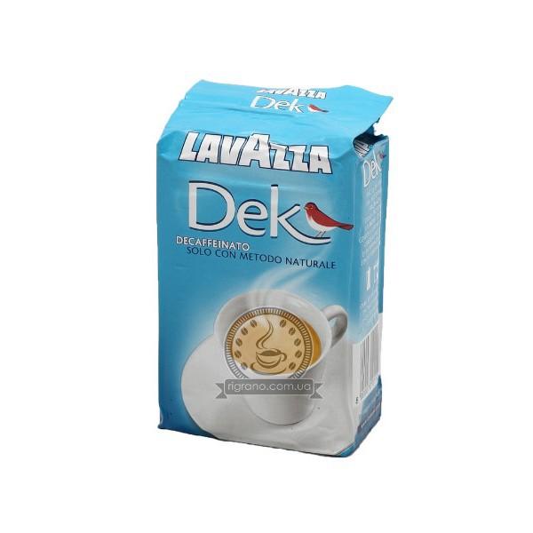 Кофе молотый Lavazza Dek 250грКофе, какао<br><br><br>Тип: кофе молотый<br>Обжарка кофе: средняя<br>Состав: 60% Арабика/ 40% Робуста<br>Дополнительно: 60% Арабика 40% Робуста. Упаковка вакуумная