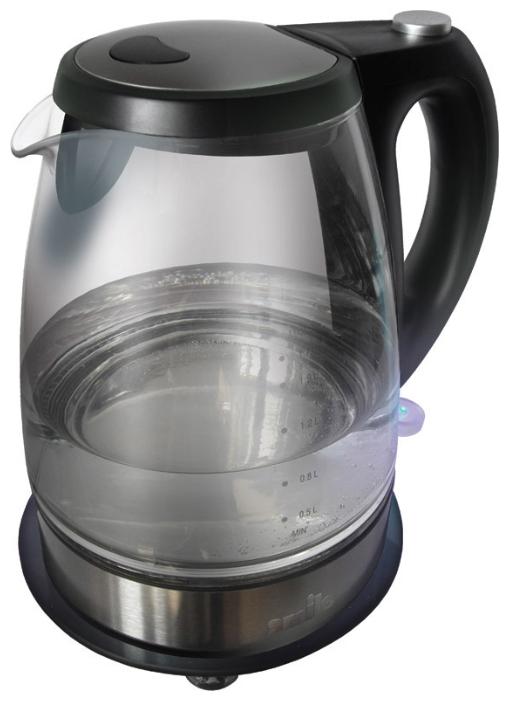 Электрочайник SMILE WK 2403Чайники и термопоты<br><br><br>Тип   : Электрочайник<br>Объем, л  : 1.5<br>Мощность, Вт  : 2000<br>Тип нагревательного элемента: Закрытая спираль<br>Материал корпуса  : пластик\Стекло<br>Индикатор уровня воды  : Есть<br>Блокировка крышки  : Есть<br>Блокировка включения без воды  : Есть