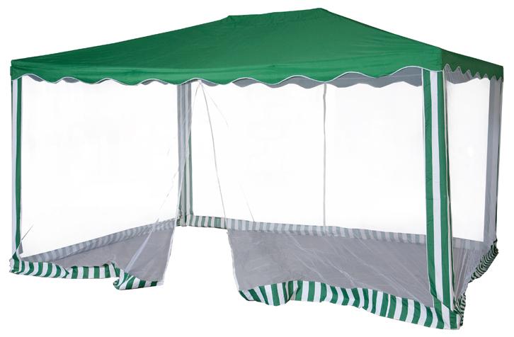 Садовый тент-шатер Green Glade 1088Садовые тенты и шатры<br>Садовый тент шатер Green Glade 1088- это один из необходимых предметов для комфортного отдыха на природе и это не удивительно. Ведь с его помощью можно быстро создавать комфортные условия на открытом воздухе. Тент эффективно защищает от яркого солнца и дождя. Материал шатра изнутри имеет прорезиненную основу. Он позволяет наслаждаться отдыхом без надоедливых комаров и других летающих насекомых.<br><br>Тип: Садовый тент-шатер<br>Покрытие: полиэстер 140 г. с водоотталкивающей пропиткой<br>Каркас: металлическая трубка (19х19х25 мм)<br>Размеры упаковки: 115х17х23 см