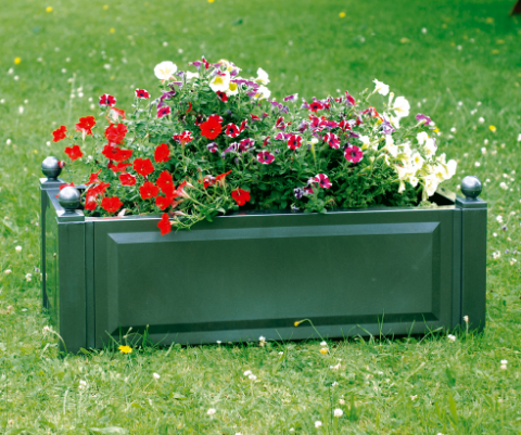 Ящик для растений KHW 38103 GreenСадовые конструкции<br><br><br>Тип: ящик для растений<br>Объем, л: 110<br>Материал : полипропилен
