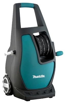Мойка высокого давления Makita HW111Мойки высокого давления<br><br><br>Давление, Бар: 110<br>Производительность, л/час: 370<br>Потребляемая мощность: 1.7 кВт·ч<br>Насадки: щетка<br>Шланг ВД: способ хранения: держатель, длина 5.50 м