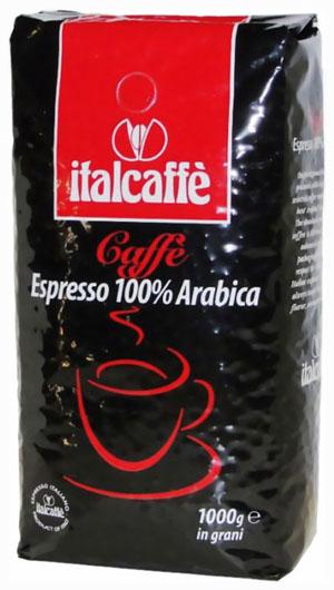 Кофе в зернах Italcaffe Espresso 100% ARABICA 1 кгКофе, какао<br>Кофе в зернах Italcaffe Espresso 100% Arabica это результат тщательного отбора лучших видов арабики, придающих готовому напитку приятный вкус с легкой кислинкой и длительный богатый аромат, который не оставит равнодушными настоящих ценителей итальянского эспрессо.<br><br>Тип: кофе в зернах<br>Обжарка кофе: средняя<br>Состав: 100% Арабика<br>Дополнительно: состав: Арабика 100%. Упаковка: вакуумная упаковка с однонаправленным воздушным клапаном