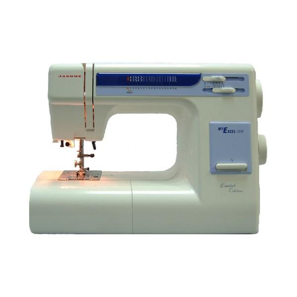 Швейная машина Janome ME-18WШвейные машины<br>Janome me 18w: работайте с любыми тканями!<br> Швейная машина Janome me 18w, хотя и имеет довольно скромный дизайн, с любыми швейными задачами справляется на &amp;laquo;отлично&amp;raquo;. Она знает целых 18 различных швейных операций, выполняет рабочие, декоративные, оверлочные, трикотажные, отделочные строчки, а также петлю-автомат. Вы самостоятельно можете регулировать длину стежка, ширину зигзага и саму скорость шитья. Управляться с Janome me 1221 me 18w очень удобно, плавный и мягкий ход машинки делает работу легкой и приятной.<br><br><br><br> Вы можете работать с совершенно любыми тканями...<br><br>Тип: электромеханическая<br>Тип челнока: ротационный горизонтальный<br>Количество швейных операций: 18<br>Выполнение петли: автомат<br>Максимальная длина стежка: 4.0 мм<br>Максимальная ширина стежка: 6.5 мм<br>Оверлочная строчка : есть<br>Потайная строчка : есть<br>Эластичная строчка : есть<br>Эластичная потайная строчка: есть