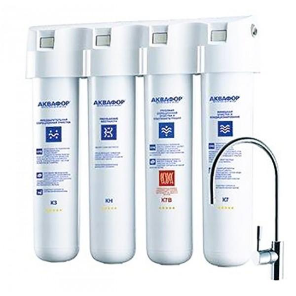 Фильтр для воды Аквафор Кристалл Эко НФильтры и умягчители для воды<br>Аквафор Кристалл ЭКО H у вас на кухне – это чистая и свежая вода, безопасная даже для людей с чувствительным иммунитетом и пищеварением. С фильтром Кристалл ЭКО H ваши напитки и еда будут вкуснее, а чайник, мультиварка и кофемашина прослужат дольше.<br><br>Ресурса 8000 литров хватит на год большой семье &amp;#40;до 7 человек&amp;#41;. Затем вы легко сможете заменить картриджи.<br><br>Вода, очищенная Аквафор Кристалл ЭКО H, подходит для приготовления детского питания. Фильтр защищает от вредных примесей и обеззараживает водопроводную воду без применения химических добавок....<br><br>Тип: система под мойкой<br>Тип фильтра: система под мойкой<br>Подключение к водопроводу: есть