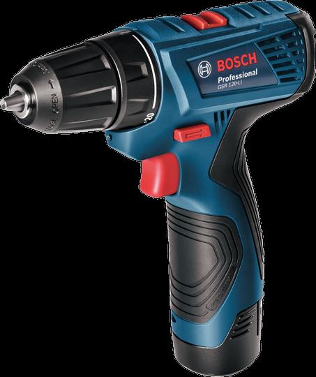 Дрель-шуруповерт Bosch GSR 120-LI 1.5Ah x2 Case [06019F7001]Дрели, шуруповерты, гайковерты<br>Аккумуляторный шуруповерт Bosch GSR 120-LI пришёл на смену уже хорошо известной модели шуруповерта Bosch GSR 1080-2-LI. Отличительными особенностями данной новинки является увеличенный до 12 В вольтаж аккумулятора, больший крутящий момент и большее число регулировок крутящего момента, а также удобная подсветка. В остальном Bosch GSR 120-LI остался таким же комфортным в использовании, практичным и удобным инструментом, который станет незаменимым помощником не только для домашнего мастера, но и займет достойное место в мастерской настоящего профессионала.<br><br>Функциональные...<br><br>Тип: дрель-шуруповерт<br>Тип инструмента: безударный<br>Тип патрона: быстрозажимной<br>Количество скоростей работы: 2<br>Питание: от аккумулятора<br>Возможности: реверс, фиксация шпинделя, электронная регулировка частоты вращения<br>Тип аккумулятора: Li-Ion<br>Время зарядки аккумулятора: 1.5 ч<br>Съемный аккумулятор: есть<br>Дополнительный аккумулятор: есть