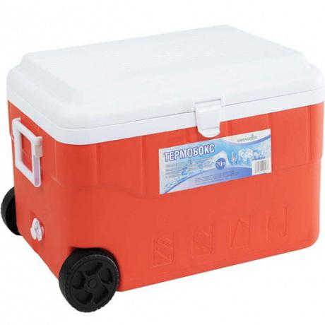 Термобокс Green Glade С21700Термосумки<br>Сверхвместительный изотермический контейнер для хранения, переноски и перевозки холодных и горячих продуктов. Имеет большой объем - 70 л! Незаменим во время отдыха на природе, на пикниках, рыбалке, охоте, в дальней поездке, в туризме и т. п. Может использоваться в профессиональной сфере для хранения продуктов, напитков или мороженного. <br><br>Контейнер Green Glade 70 л, арт. С21700 долго сохраняет температуру продуктов. Многие люди покупают его, чтобы доставить на дачу или домой продукты охлажденными и неиспорченными. Эргономичность и долговечность этой модели,...<br><br>Тип: термобокс<br>Объем, л: 70<br>Материал: изотермический корпус с наполнением из полиуретана