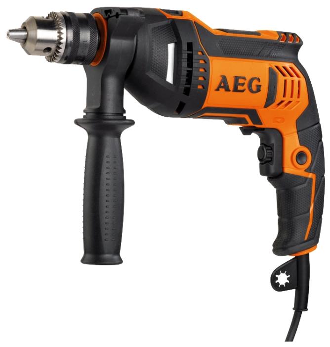 Дрель AEG 442840 SBE 750 RZДрели, шуруповерты, гайковерты<br>Ударная дрель AEG SBE 750 RZ 442840 оснащается долговечным двухмуфтовым патроном. Инструмент используется на строительных площадках, а также в процессе ремонта для сверления отверстий диаметром до 30 мм. Покрытие с микротекстурой и дополнительная рукоять позволяют крепко держать дрель в руках, что особенно актуально при работе в режиме долбления.<br><br>Тип: дрель<br>Тип инструмента: ударный<br>Тип патрона: ключевой<br>Количество скоростей работы: 1<br>Питание: от сети<br>Возможности: реверс, электронная регулировка частоты вращения<br>Кейс в комплекте: есть
