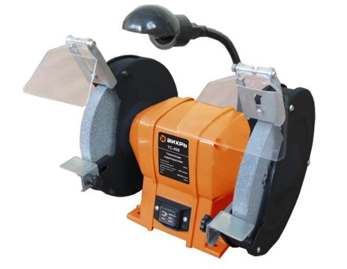Точильный станок Вихрь ТС-400Шлифовальные и заточные машины<br><br><br>Описание: подсветка