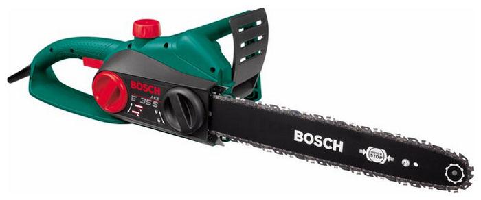 Электрическая цепная пила Bosch AKE 35 S [0600834500]Пилы<br><br><br>Тип: электрическая цепная<br>Конструкция: ручная<br>Мощность, Вт: 1800 Вт<br>Функции и возможности: тормоз цепи<br>Дополнительно: система SDS для простого натяжения и замены цепи без инструментов, хромированная цепь