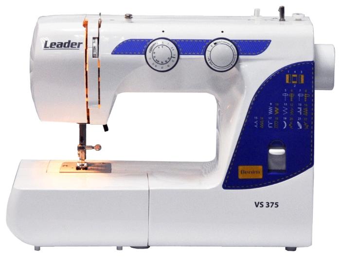 Швейная машина Leader VS 375 DenimШвейные машины<br>Швейная машина LEADER VS375 <br>Новинка!&amp;nbsp;&amp;nbsp;Швейная машина Leader VS 375 -&amp;nbsp;&amp;nbsp;простая и надёжная модель. Подойдет для шитья всех видов тканей, в том числе джинсы.&amp;nbsp;&amp;nbsp;22 швейных операций: полуавтоматическая петля, рабочие строчки, оверлочные строчки, потайные строчки, эластичные строчки, декоративные строчки.&amp;nbsp;&amp;nbsp;Основные характеристики швейной машины LEADER VS375: качающийся челнок, полуавтоматическая петля, плавная регулировка длины стежка до 4 мм, плавная регулировка ширины зигзага до 5 мм, мощность 70W &amp;#40;Ватт&amp;#41;. Удобство эксплуатации швейной машины ...<br>