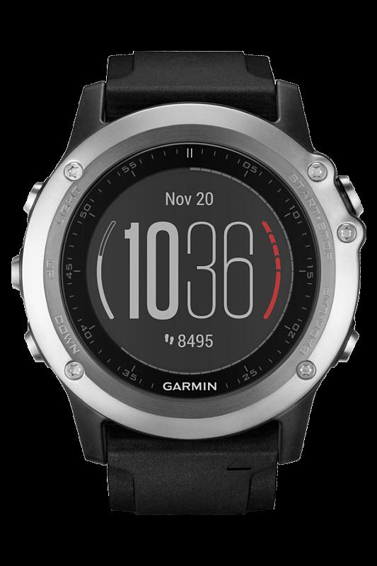 Умные часы Garmin Fenix 3 Silve Black HR [010-01338-77]