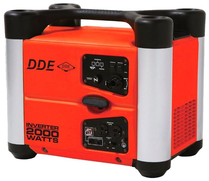 Электрогенератор DDE DPG2051SiЭлектрогенераторы<br>Инверторный генератор DDE DPG 2051Si отлично подойдет для любителей активного отдыха. Незаменим при выезде на природу, прочная и шумопоглащающая пластиковая защита корпуса не испортит даже вечерние посиделки у костра своим шумом. Вы можете наслаждаться единением с природой, одновременно заряжая свой мобильный телефон.<br><br>Инверторный генератор DDE DPG 2051Si с мощностью тока 2кВт и интеллектуальной системой стабилизации напряжения, позволит подключить аппаратуру, которой нежелательны перепады напряжения, без дополнительных стабилизаторов. А система...<br><br>Тип электростанции: бензиновая, инверторная<br>Тип запуска: ручной<br>Число фаз: 1 (220 вольт)<br>Объем двигателя: 80 куб.см<br>Мощность двигателя: 2.7 л.с.<br>Тип охлаждения: воздушное<br>Объем бака: 3.8 л<br>Активная мощность, Вт: 1800<br>Звукоизоляционный кожух: есть<br>Защита от перегрузок: есть