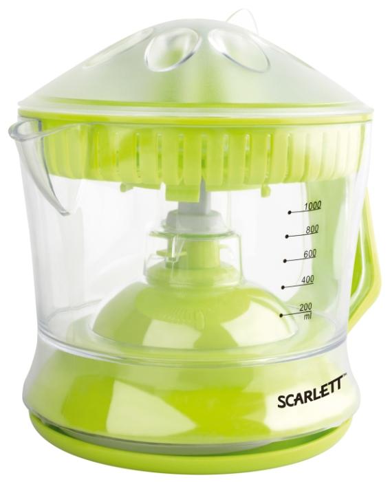 Соковыжималка Scarlett SC-JE50C04Соковыжималки<br>Cочетание инновационных технологий, современного дизайна и ярких цветов делают соковыжималки Scarlett не только надежными помощниками в приготовлении соков, но и стильным дополнением интерьера любой кухни.<br><br>Соковыжималки Scarlett представлены коллекцией «Здоровое разнообразие». Сок выжимается за считанные минуты, а соковыжималка не нагревается при работе, таким образом, сок не подвергается термической обработке и все ферменты &amp;#40;энзимы&amp;#41;, а также витаминные вещества сохраняют свои полезные свойства.<br><br>- Мощность 40 Вт<br>Оптимальная мощность для быстрого...<br><br>Тип   : соковыжималка для цитрусовых<br>Резервуар для сока: встроенный, объем 1 л<br>Система прямой подачи сока: Нет