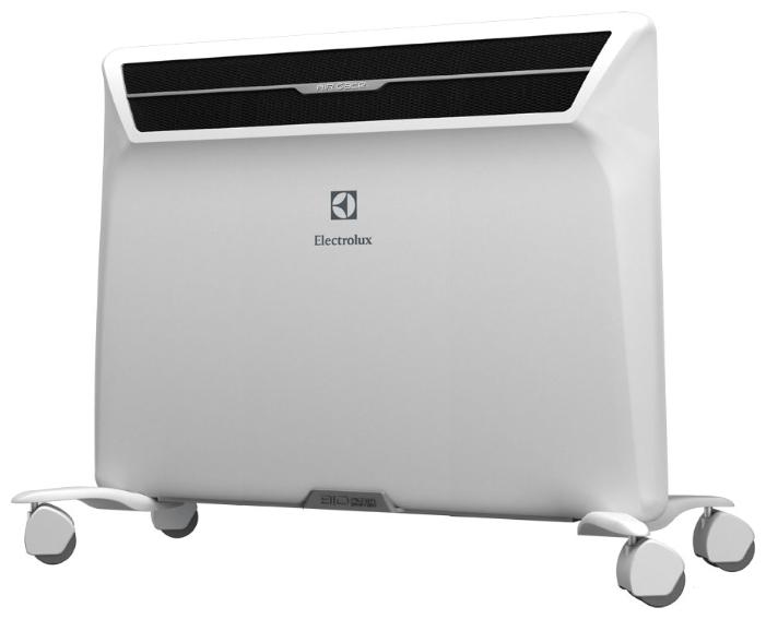 Конвектор Electrolux ECH/AG2-1000 MFОбогреватели<br>Electrolux ECH/AG2-1000 MF – это модель обогревателя, типа&amp;nbsp;&amp;nbsp;конвектор, который имеет возможность обогревать площадь в 15 метров кв. Работая от напряжения 220 В, конвектор Electrolux можно назвать прекрасным выбором для квартир любого типа Electrolux ECH/AG2-1000 MF – экономный обогреватель, который можно заказать и купить в сети интернет, при этом ознакомиться с отзывами на Electrolux ECH/AG2-1000 MF вы можете найти на сайте компаний, реализующих бытовую технику. Это поможет изучить характеристики и технические возможности прибора. Фото Electrolux предоставляется интернет магазином,...<br><br>Тип: конвектор<br>Серия: Air Gate2<br>Максимальная мощность обогрева: 1000<br>Площадь обогрева, кв.м: 15<br>Отключение при перегреве: есть<br>Влагозащитный корпус: есть<br>Управление: механическое<br>Настенный монтаж: есть<br>Напольная установка: есть<br>Колеса для перемещения: есть